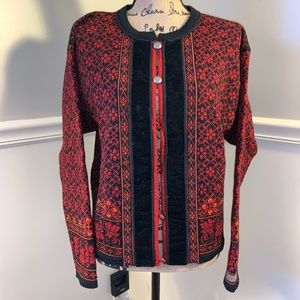 CASUAL DALE OF NORWAY Wool Cardigan L